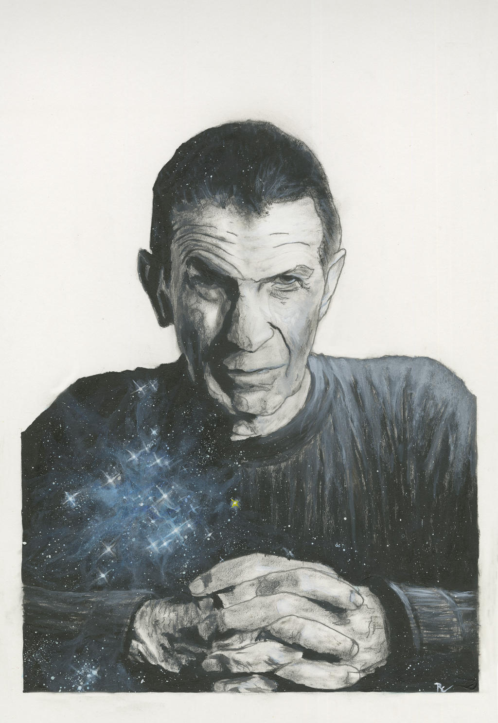 A True Starman - Leonard Nimoy Painting