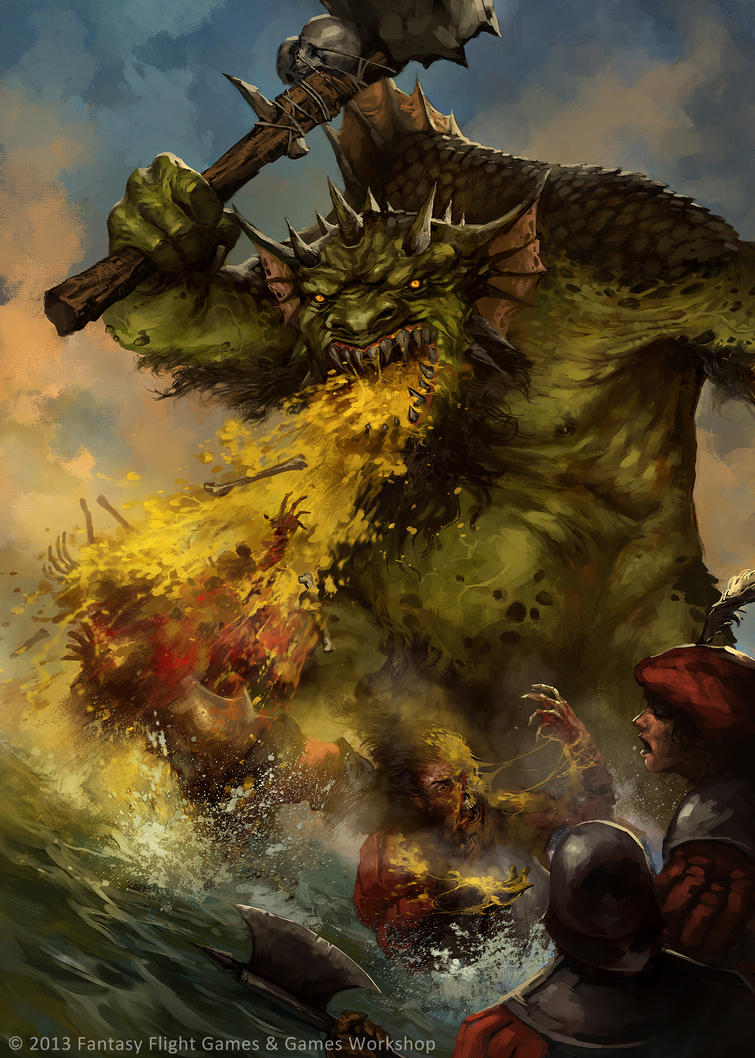 Warhammer: Invasion - Troll Vomit by jbcasacop