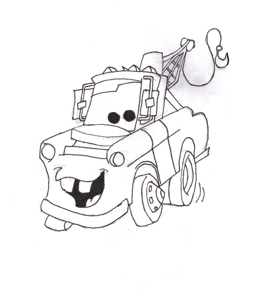 mater from cars coloring pages - photo#9