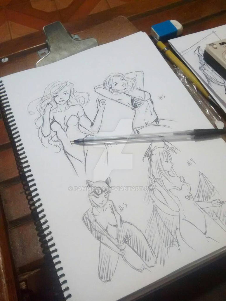 fanarts sketches by Pammella