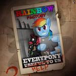 Rainbow factory propaganda poster