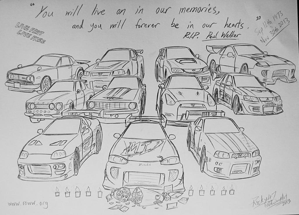 paul walker coloring pages | My tribute to Paul Walker... by Ricky47 on DeviantArt