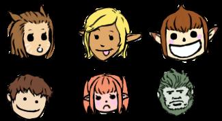 Final Fantasy XIV - emoticons by Dark-Pen