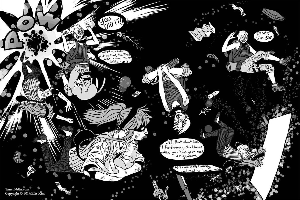 Time Fiddler, Pages 36-37 Spread by Dark-Pen