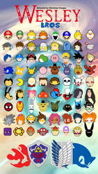 Wesley Bros characters poster by Jeageruzumaki