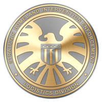 S.H.I.E.L.D. Agent Badge (Gold Two Tone v1) by Robert-LaRose