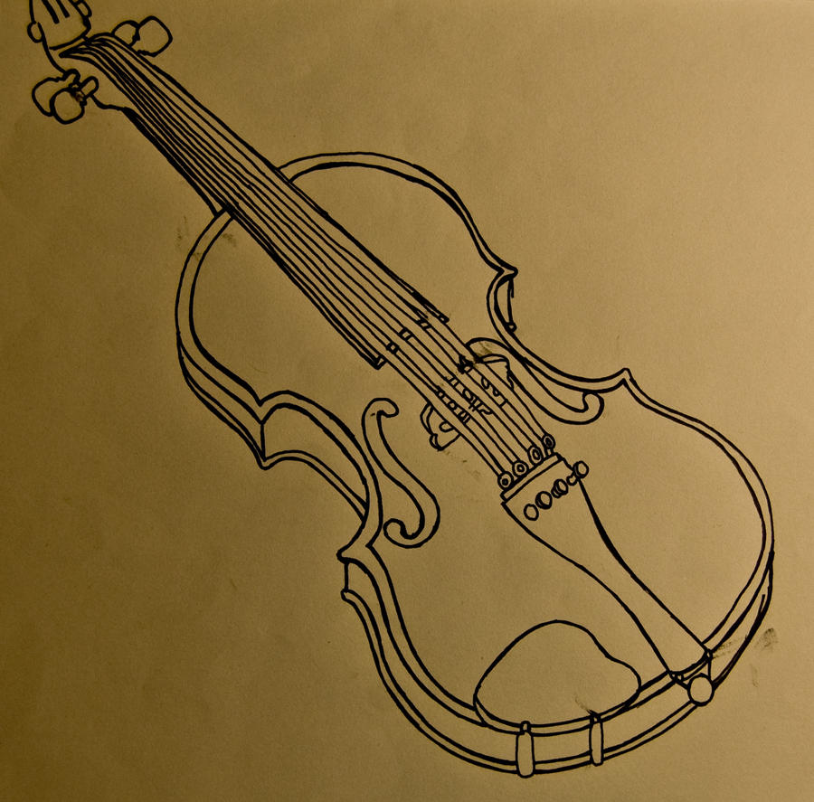 Line Drawing Violin : Violin contour lines by chelseapenguin on deviantart