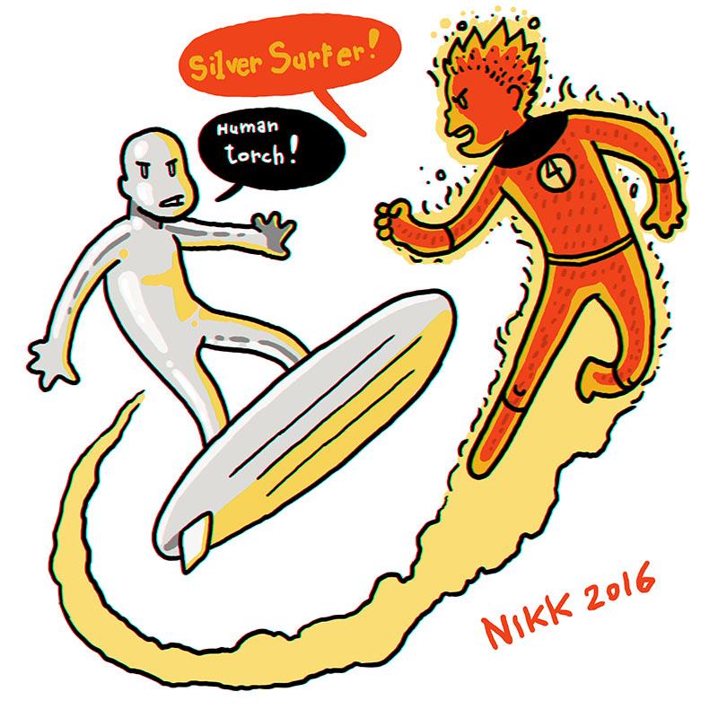 Surfer vs Torch mini by Nikkarin