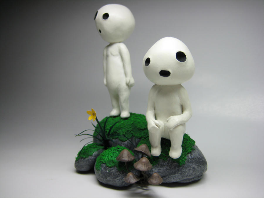 kodama (princess mononoke) by FurtherShore