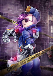 VI at the crime scene