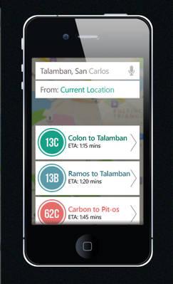 Cebu Jeepneys Mobile Transit App