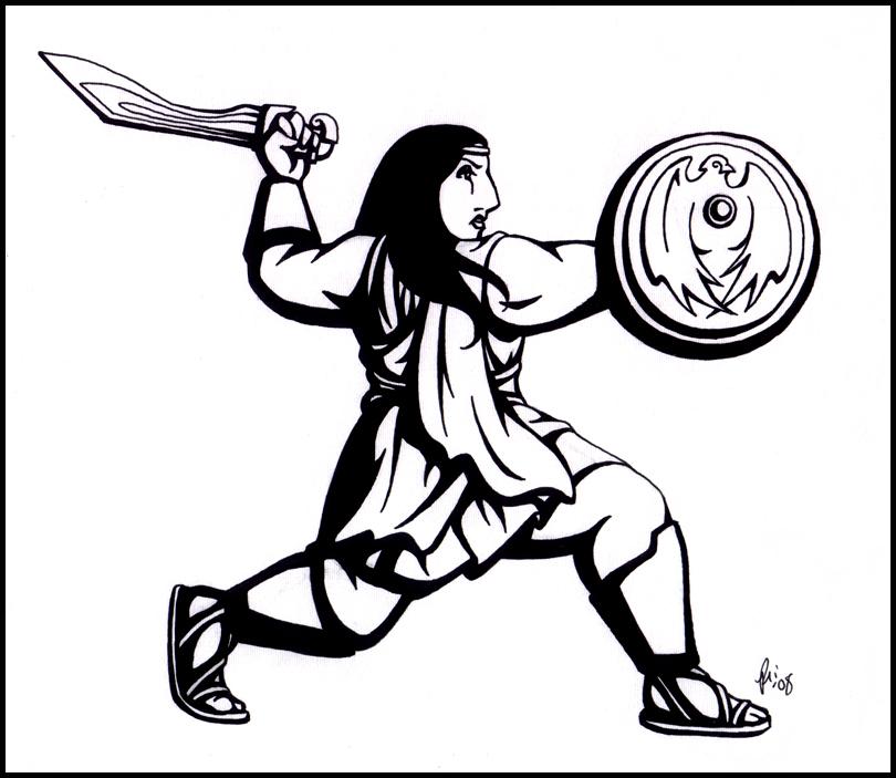 Wonder Woman - Sword + Shield by rachelillustrates
