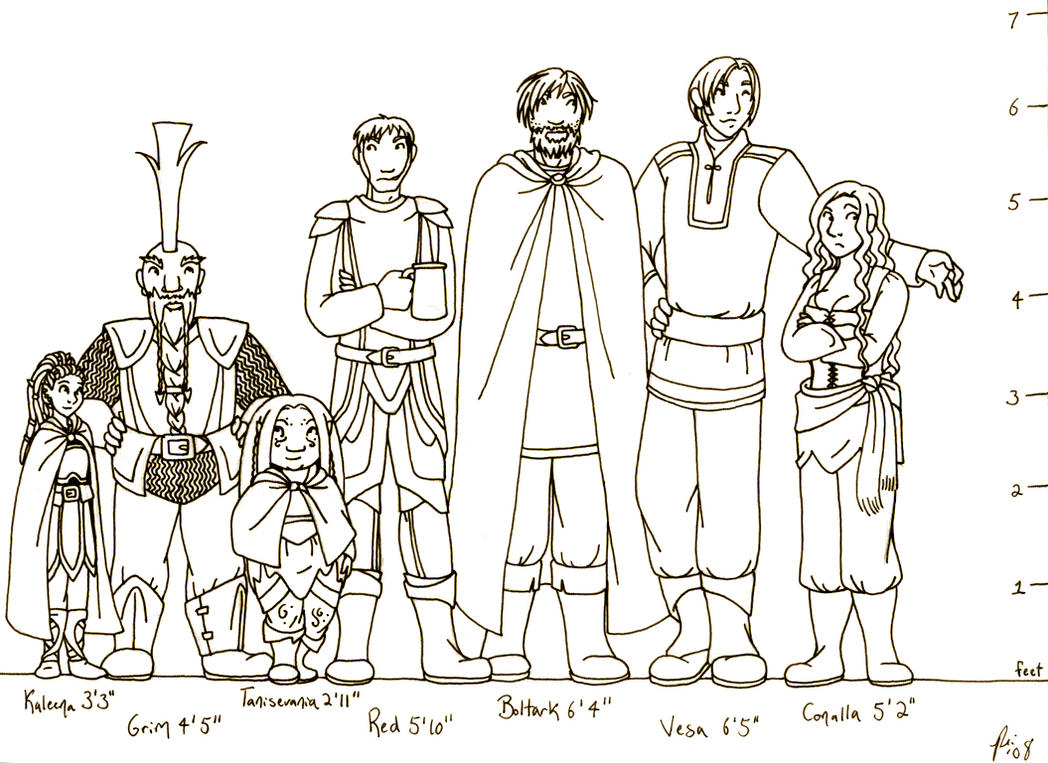 DnD Current Party Height Chart By Rachelillustrates On DeviantArt - Current height