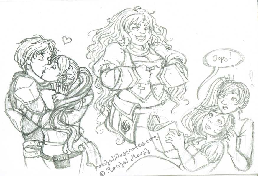 RWBY Sketches by rachelillustrates