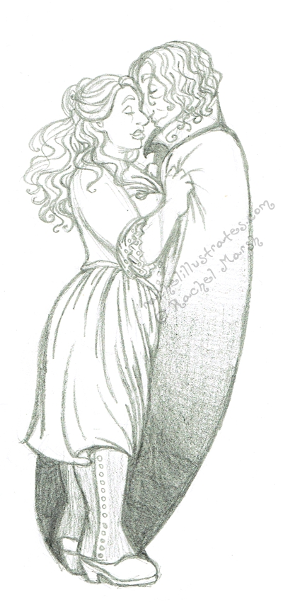 Rumbelle Sketch - 'Finding You' by rachelillustrates