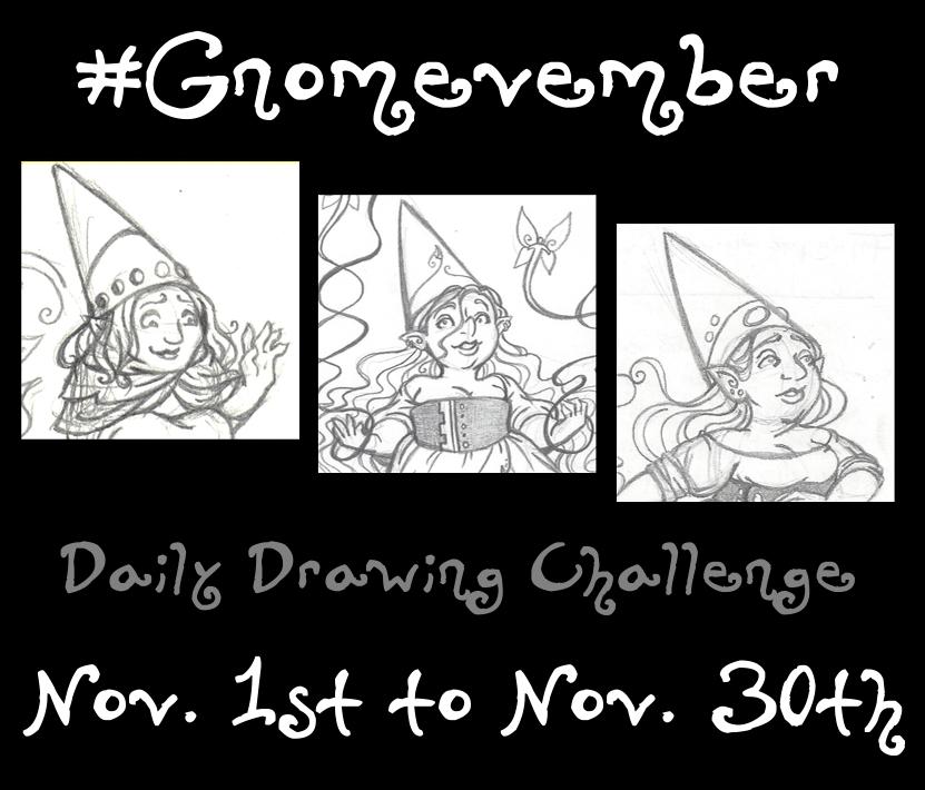 #Gnomevember! by rachelillustrates