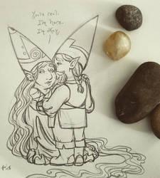 JuneFae 2018 three, Sunday Gnomedays 6-3-18 by rachelillustrates
