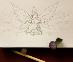 Gnomevember 2018 day 7 - Faerie by rachelillustrates