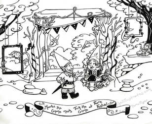 Commish- Maarten the Gnome meets Tock the Gnome... by rachelillustrates