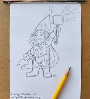 Sketch - Gnome Thor