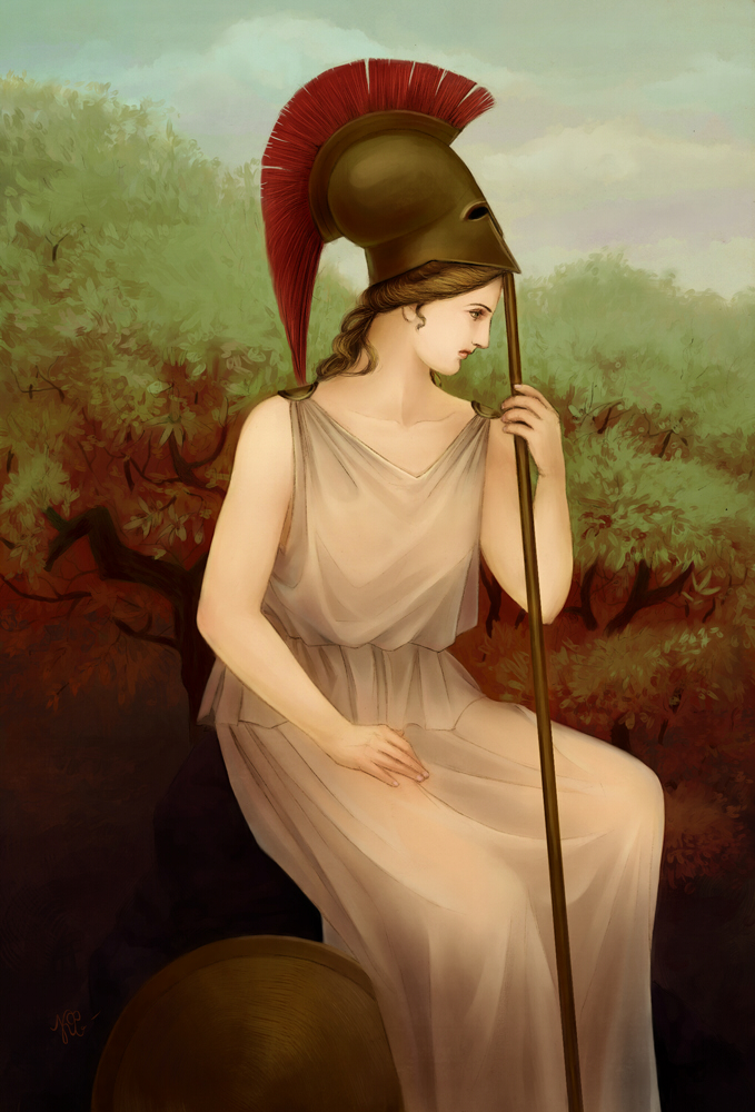 Athena The Goddess Of War By Karlafrazetty On Deviantart