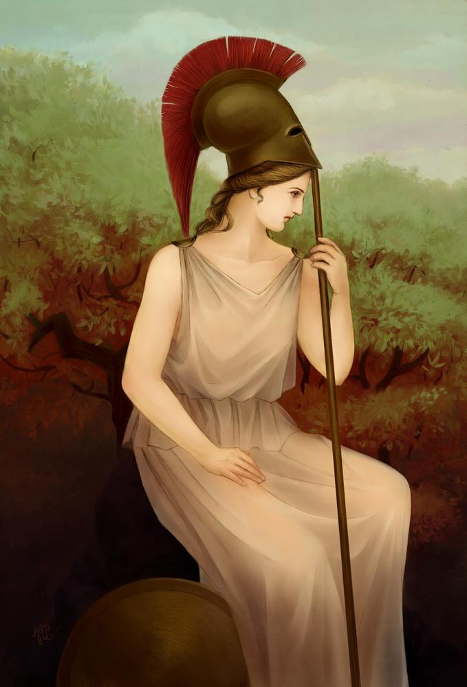 Athena - The Goddess of War by KarlaFrazetty on DeviantArt