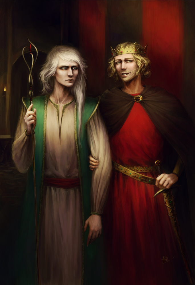 Merlin and king Arthur by KarlaFrazettyKing Arthur And Merlin