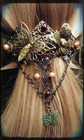 Steampunk Butterfly hairclip
