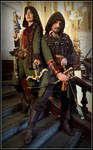 Steampunk Robin Hood and Lady Marion