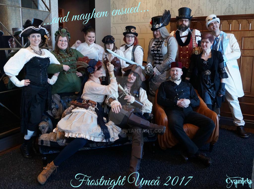 Steampunk group photo Frostnight Mayhem ed by Cyanida