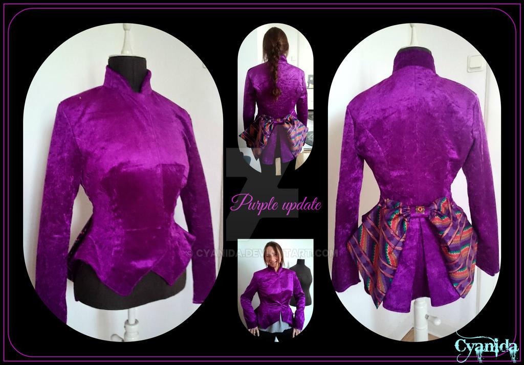 Update Purple Victorian Steampunk ladies jacket by Cyanida