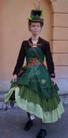 Steampunk Forest-mechanical Dress Sara