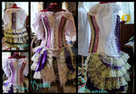 Steampunk Pastel burlesque outfit