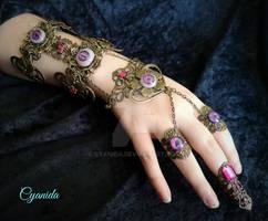 Purple eye bracelet II