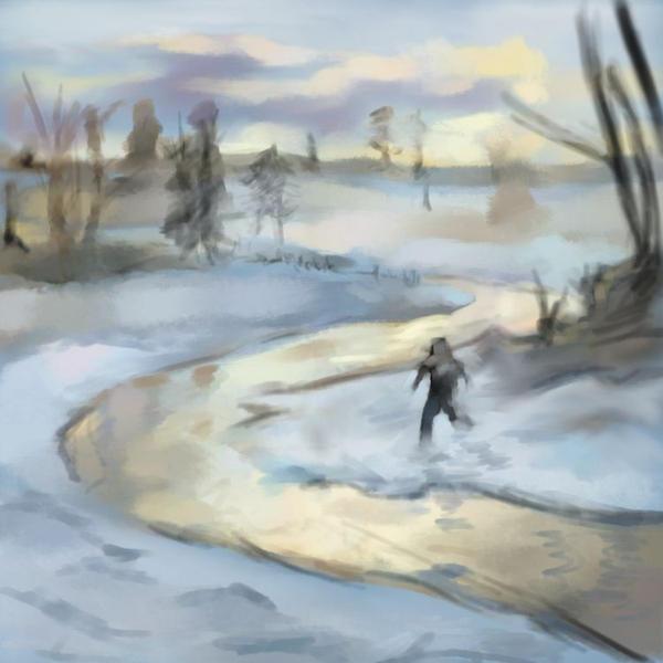 Snowy Creek by xxsketch