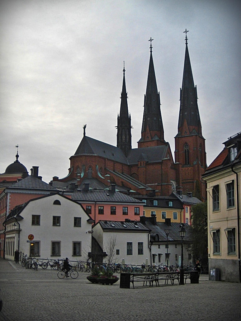 Uppsala city center by utopia-dweller