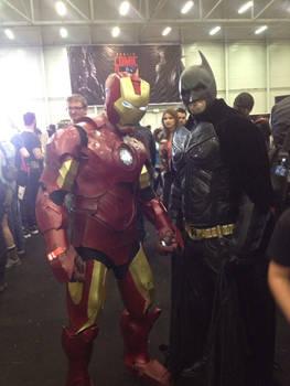 Me posing with batman at Dublin Comic Con 2014