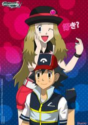 PKMN V - Ash and Serena I (2014 VERSION) by Blue90