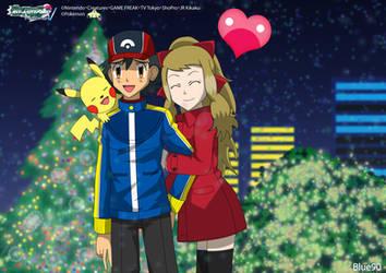 PKMN V - Ash and Serena VI - Amour de Noel by Blue90