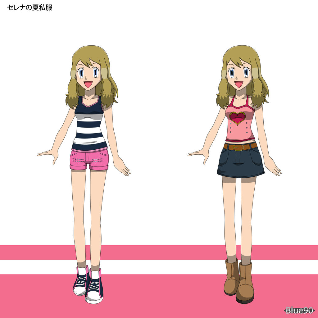 PKMN V - Serena Summer Casual Outfit Designs by Blue90 on ...
