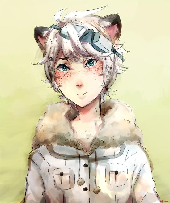 Snow Leopard by chibi-chubear