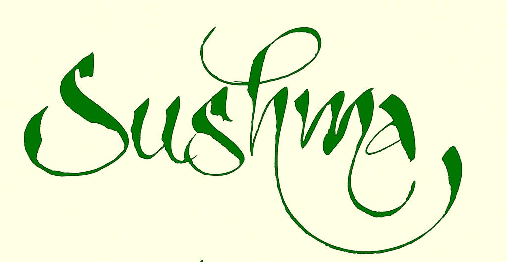 Sushma Hindi Calligraphy Green By Rdx558