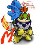 Bowser Jr. and Shadow Mario - Super Mario Sunshine