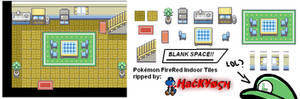 Pokemon FireRed Indoor Tiles 1