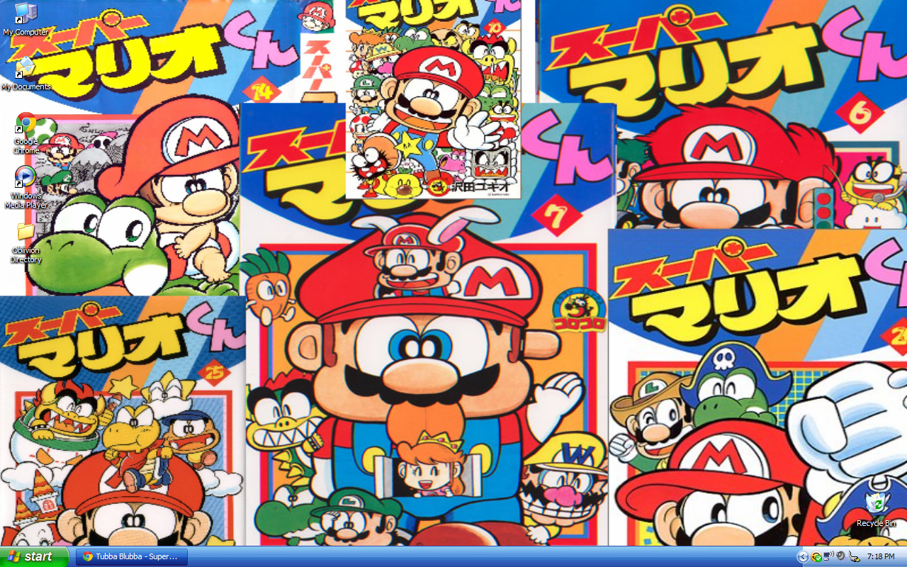 Super Mario Desktop Manga