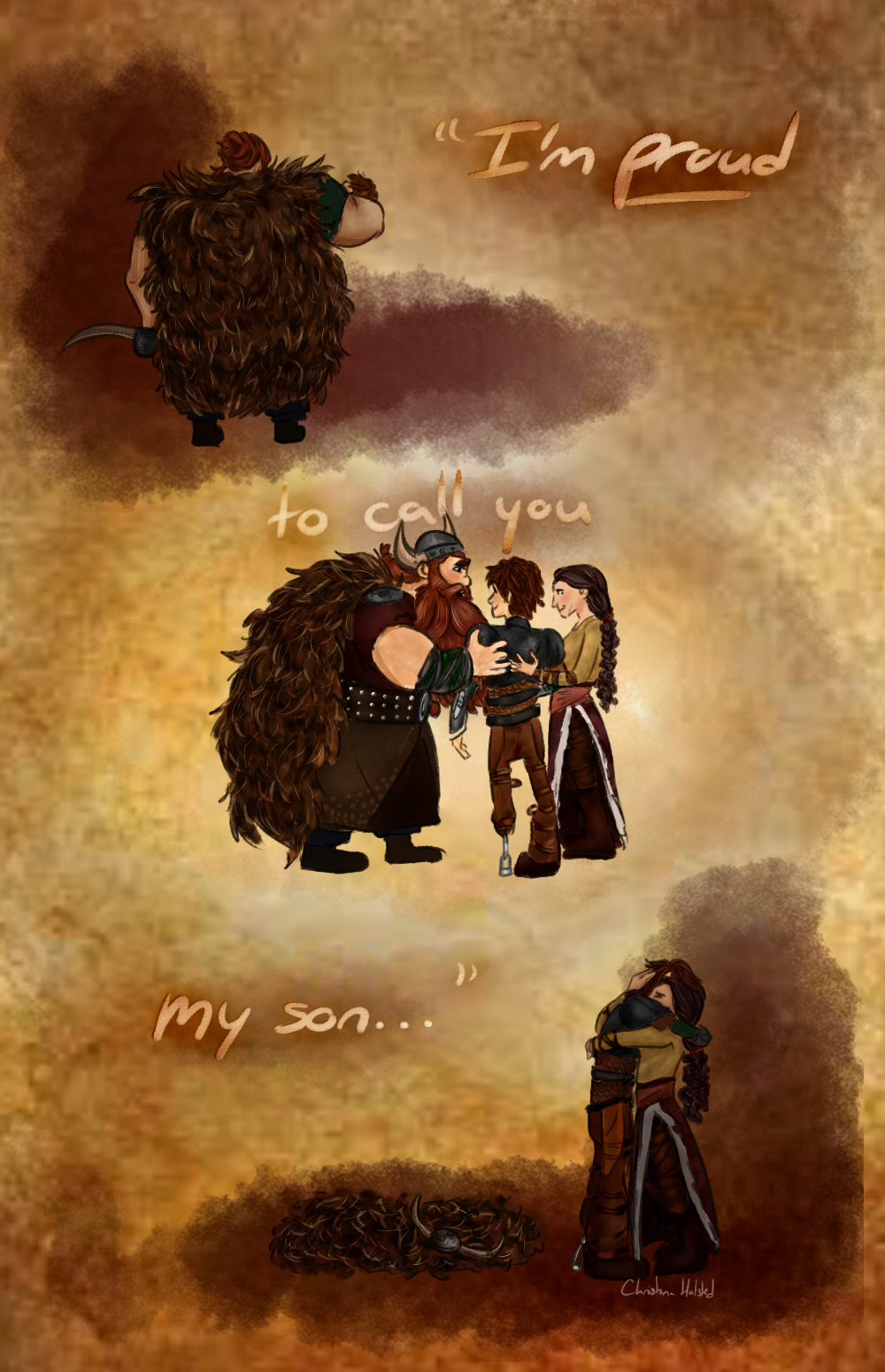 Broken family *HTTYD2 SPOILERS* by calmdownchristina