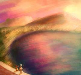 Sunset Fishing by calmdownchristina