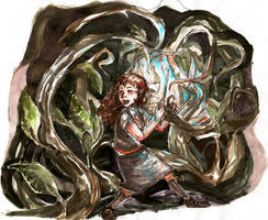 hermione and the devil's snare by Nettleurgy