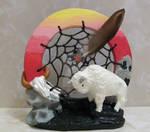 White Buffalo Sunset Dreamcatcher
