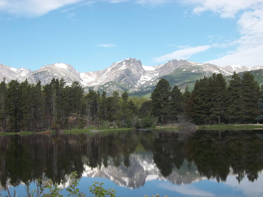 Sprague Lake with Mountain Reflections